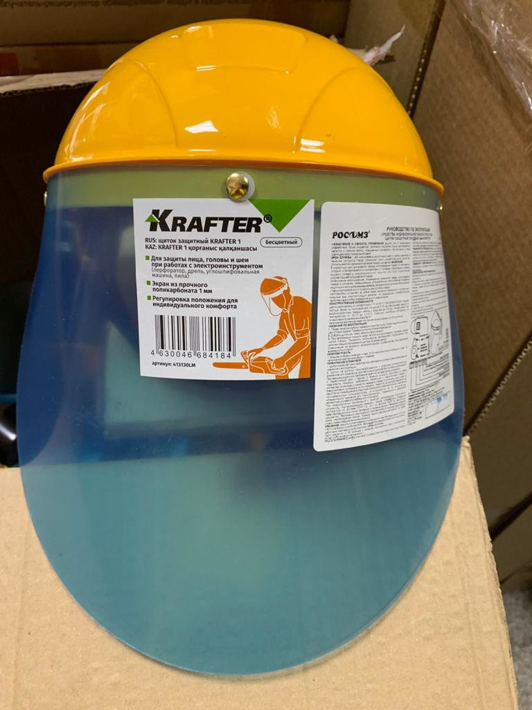 Средства Индивидуальной Защиты: Щиток защитный Krafter 1 бесцветный в Техномед, ООО