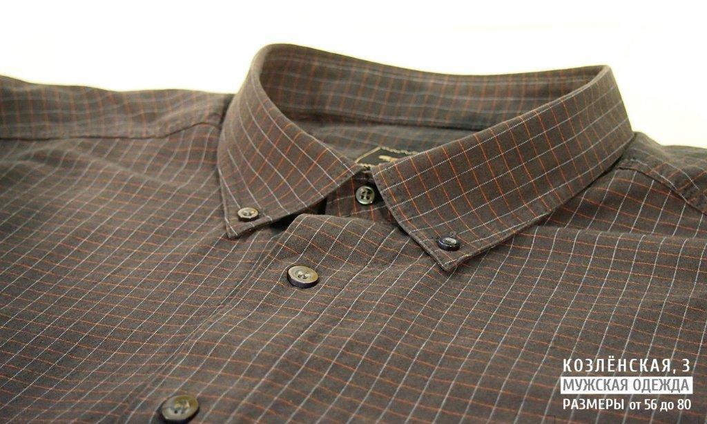 Рубашки, сорочки (длинный рукав): Рубашка из вареной (неусаживаемой) ткани в Богатырь, мужская одежда больших размеров