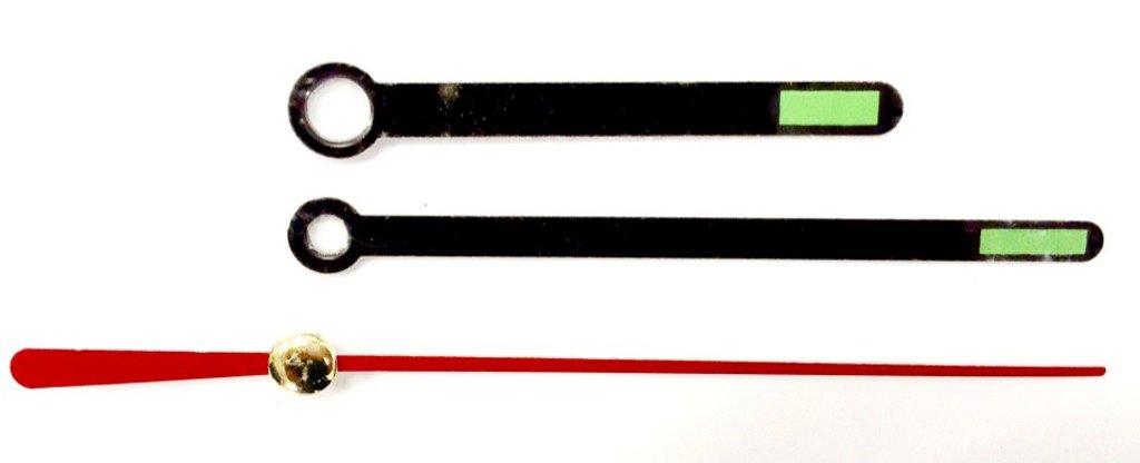 Заготовки для часов: Комплект стрелок 50/70 черные НН504-Y в Шедевр, художественный салон