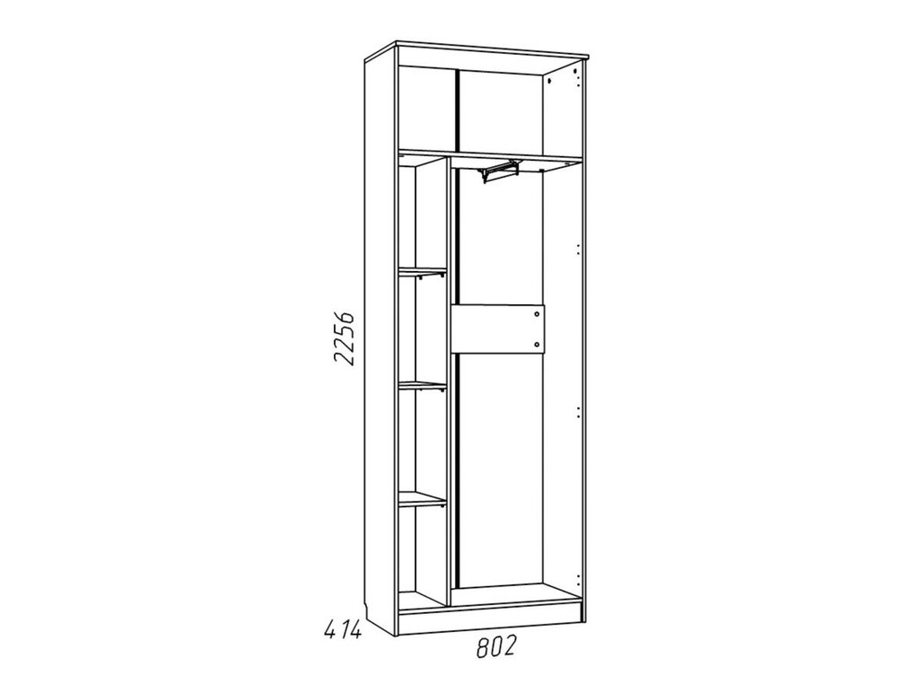 Детские шкафы и стеллажи: Шкаф для одежды НМ 013.02-02 Фанк в Стильная мебель