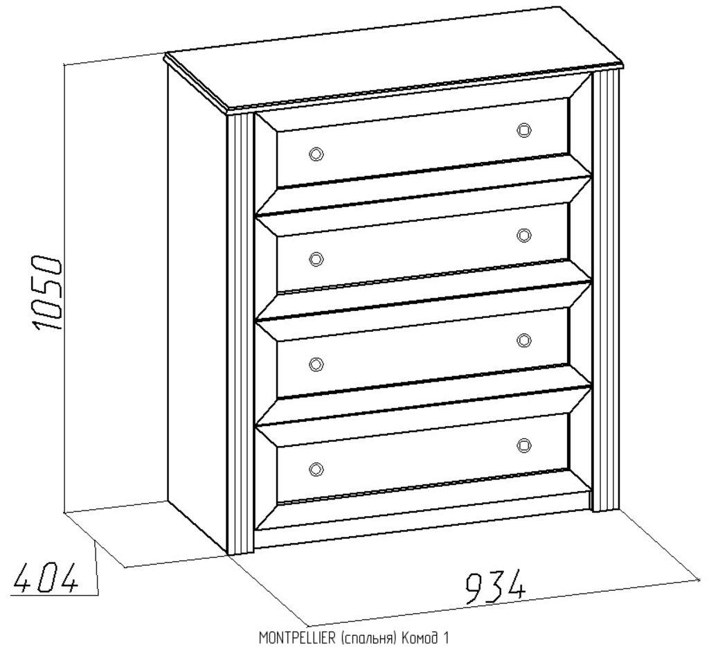 Комоды для дома: Комод Montpellier 1 в Стильная мебель