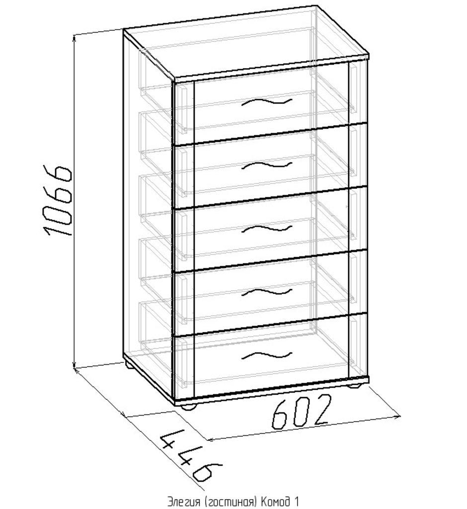 Комоды для дома: Комод 1 Элегия в Стильная мебель