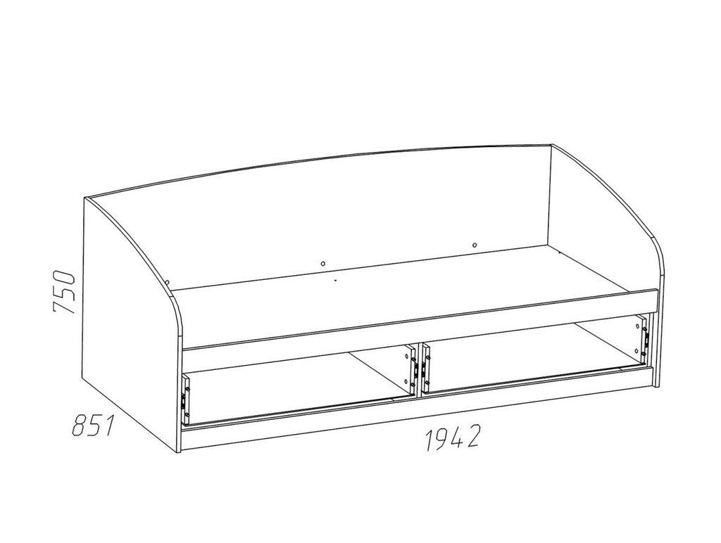 Детские и подростковые кровати: Кровать НМ 008.63-01 Рико (800x1900, усилен. настил) в Стильная мебель