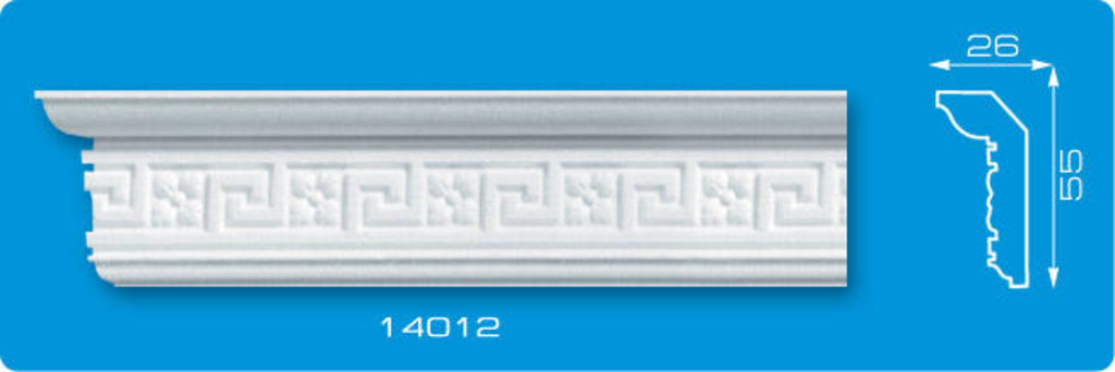 Плинтуса потолочные: Плинтус потолочный ФОРМАТ 14012 инжекционный длина 1,3м, средний в Мир Потолков