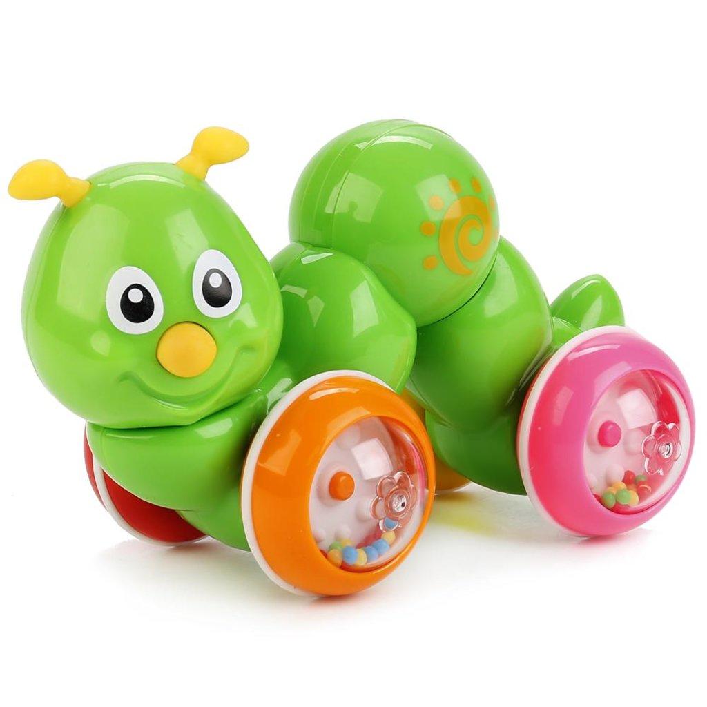 "Игрушки для малышей: Игрушка-покатушка ""Гусеница"", в коробке, 19*11*12 см в Игрушки Сити"