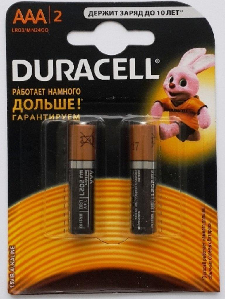 Батарейки.: Батарея LR03, AAA  DURACELL MN2400 (без надписи 2 штуки) (2BL) в A-Центр Пульты ДУ