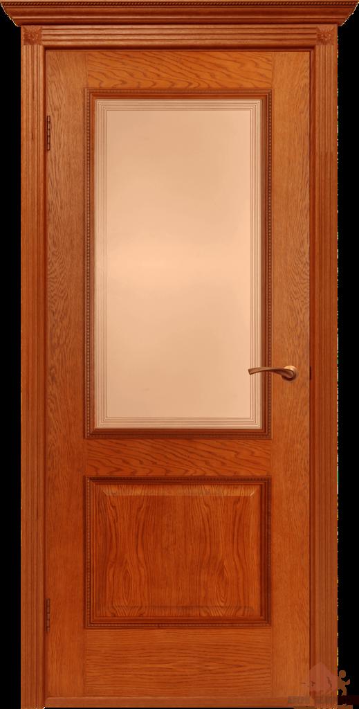 Двери Белоруссии  шпонированые: Гранд (орех-коньяк) в STEKLOMASTER