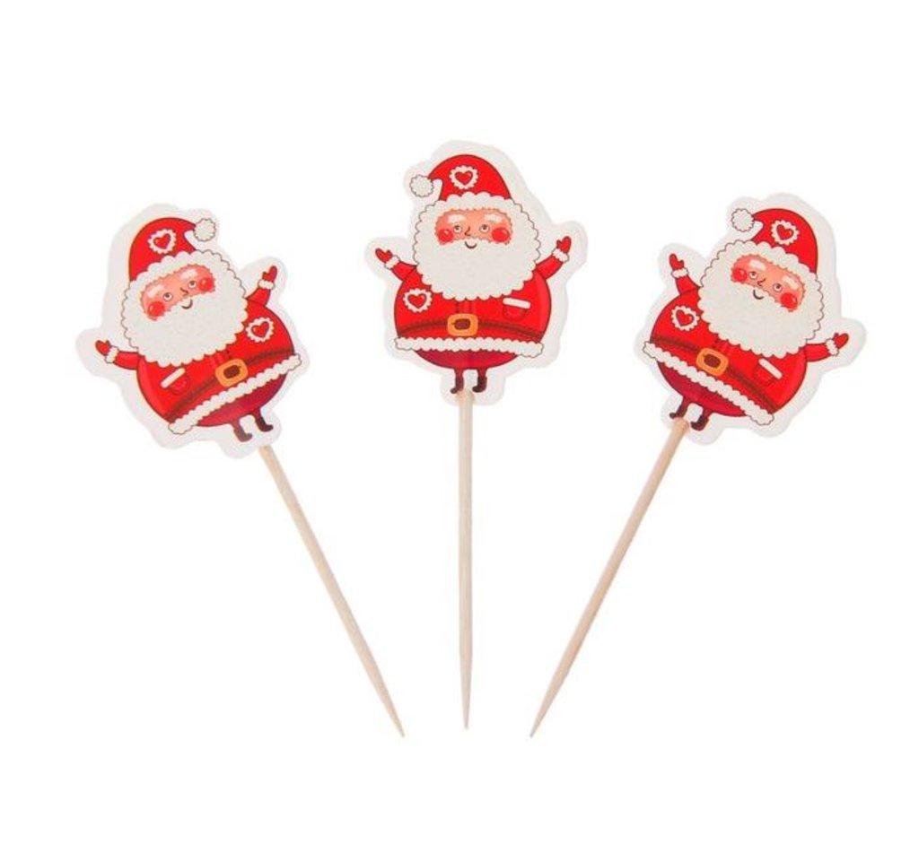 "Украшения, декор: Шпажки для канапе ""Дед Мороз"", набор 12 шт в ТортExpress"