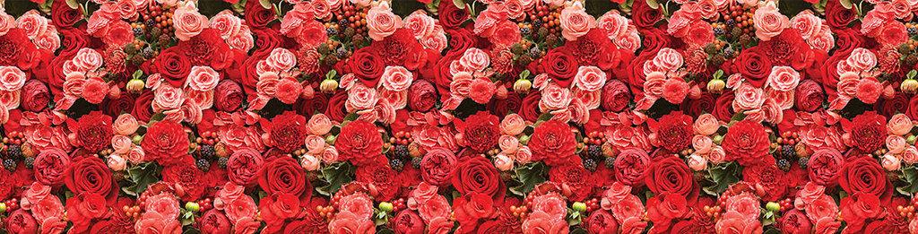 Декоративные интерьерные панели (фартуки для кухни): Интерьерная декоративная панель Розы (3х0,6м; 2х0,6м) в Мир Потолков