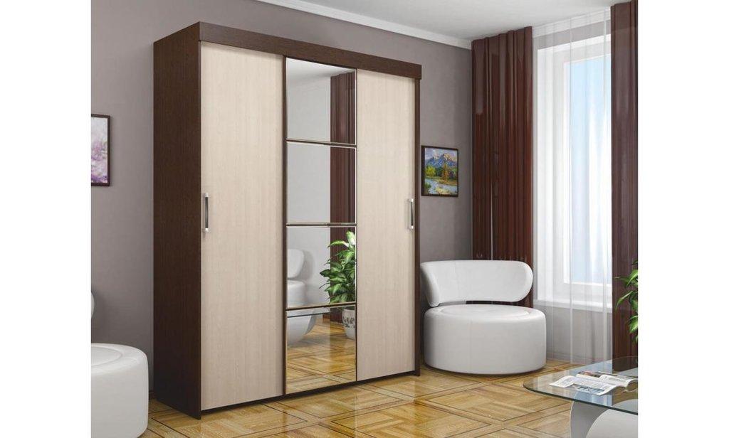 Шкафы-купе: Шкаф-купе ШК-3 Форвард, платье и бельё, 1 зеркало в Уютный дом