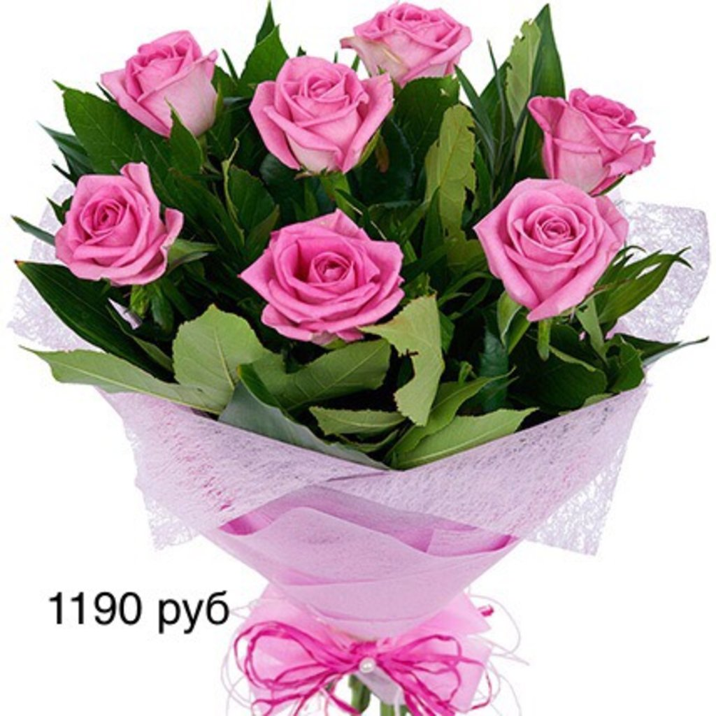 Букеты: Букет из розовых роз в Николь, магазины цветов