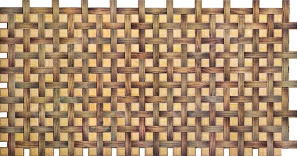 Панели ПВХ: Мозаика Плетенка орех в Мир Потолков
