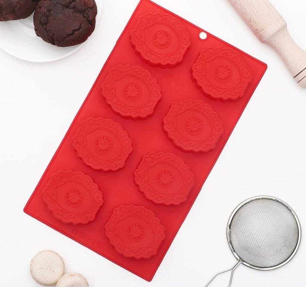 """Силиконовые формы для льда, шоколада и мармелада: Форма для выпечки """"Модница. Медальоны"""", 6 ячеек в ТортExpress"""
