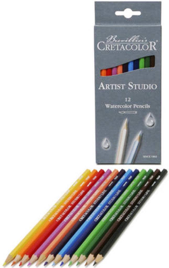 Акварельные карандаши: Акварельные цветные карандаши CRETACOLOR 12 цветов в Шедевр, художественный салон