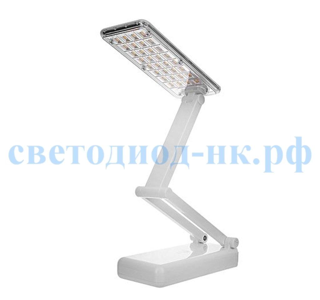 Настольные лампы, ночники: Светодиодный настольный светильник ЭРА NLED-426 с аккумулятором белый в СВЕТОВОД