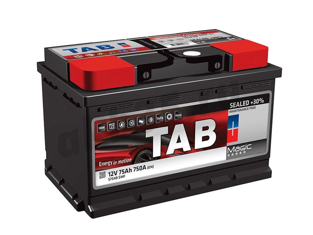 Аккумуляторы: TAB 75 А/ч Обратный Низкий MAGIC в Планета АКБ