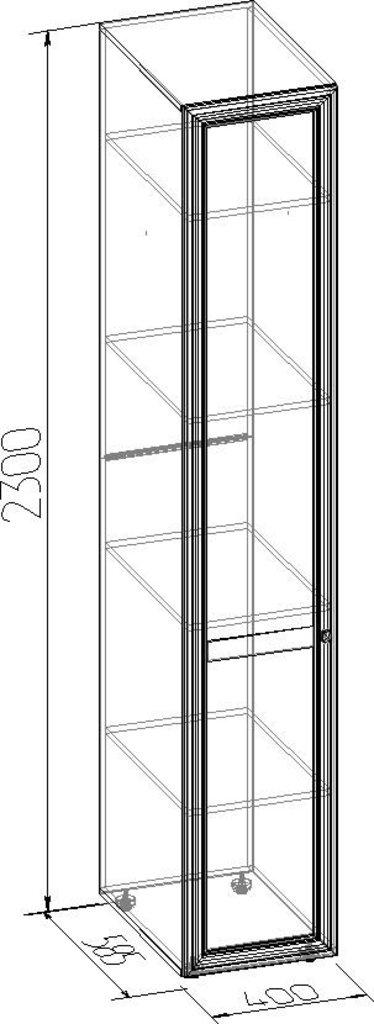 Шкафы для одежды и белья: Шкаф для белья PAOLA 55 патина (Стандарт лев.) в Стильная мебель