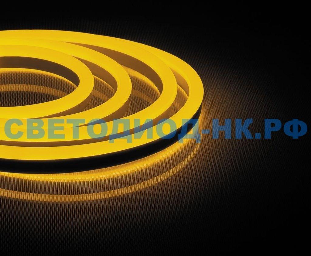 НЕОН 220В: Cветодиодная LED лента Feron LS721 неоновая, 144SMD(2835)/м 12Вт/м 50м IP67 220V желтый в СВЕТОВОД