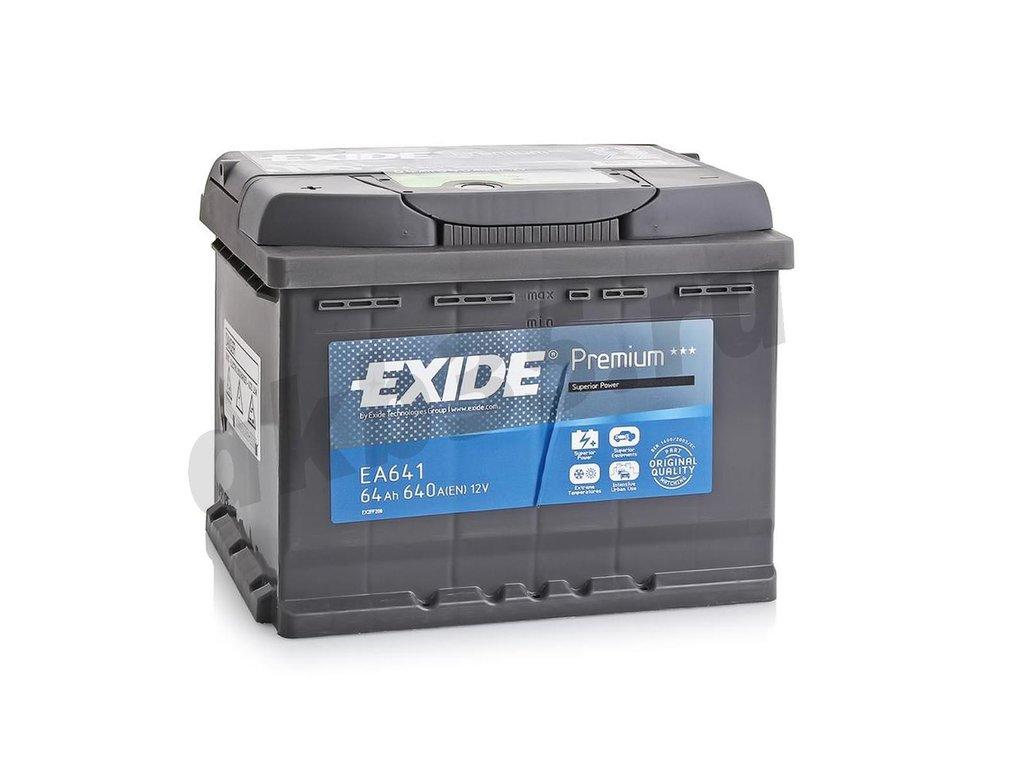 Аккумуляторы: EXIDE 6СТ-64 А/ч /П.П./ EA641 в Планета АКБ