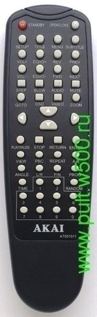 AKAI: Пульт AKAI A7001011 (DVD DV-P703B) оригинал в A-Центр Пульты ДУ