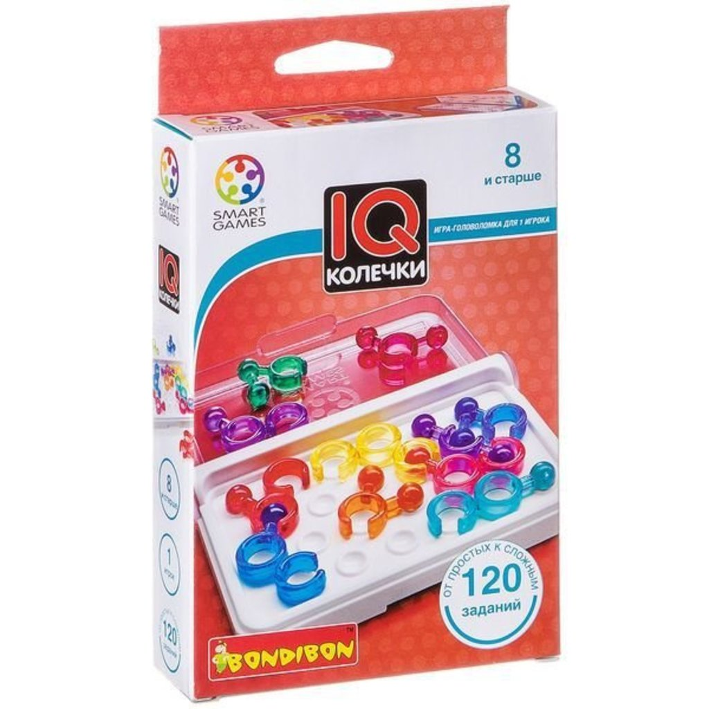 Настольные и спортивные игры: Логическая игра IQ-Колечки Bondibon в Игрушки Сити