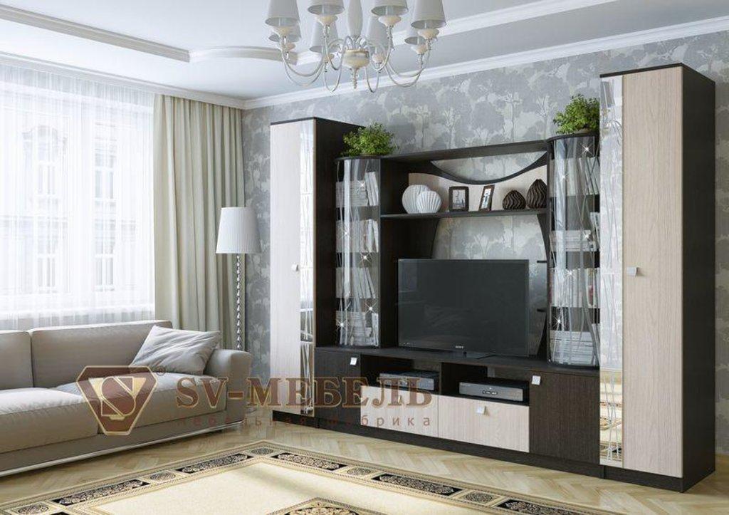 Мебель для гостиной Гамма-15: Тумба для телевидеоаппаратуры Гамма-15 в Диван Плюс