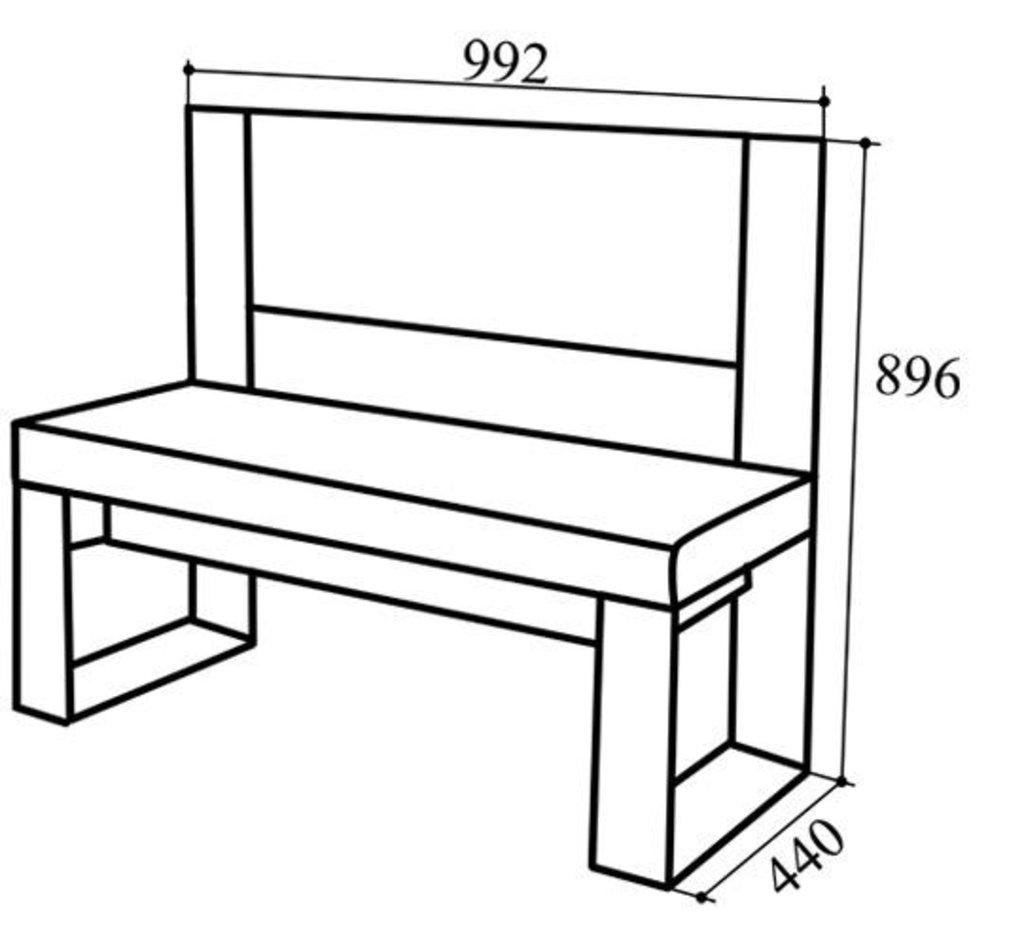 Кухонные скамьи: Скамья СК-80 ЛЮКС в Уютный дом