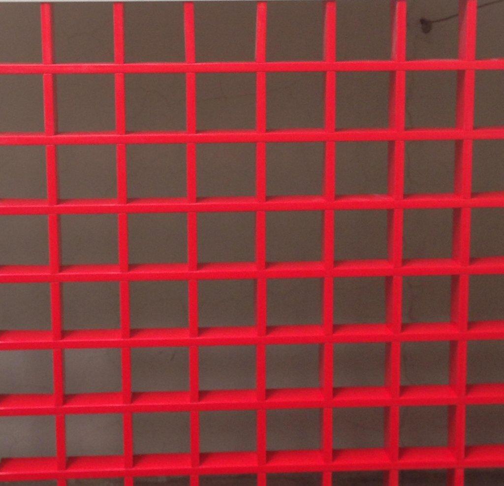Потолки грильято: Потолок Грильято 75x75 h=40 красный (Cesal) в Мир Потолков