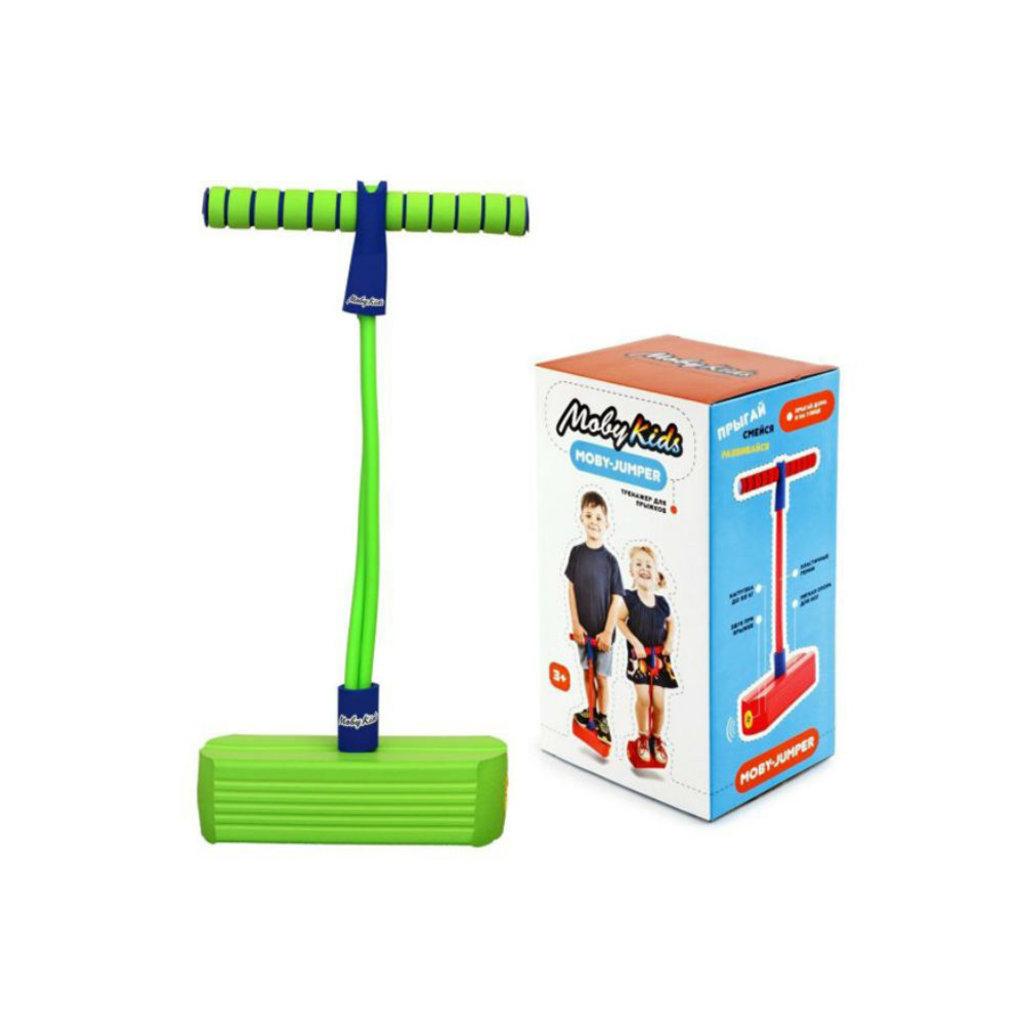 Настольные и спортивные игры: Тренажер для прыжков со звуком, зеленый Moby Kids 68553 Moby Jumper в Игрушки Сити