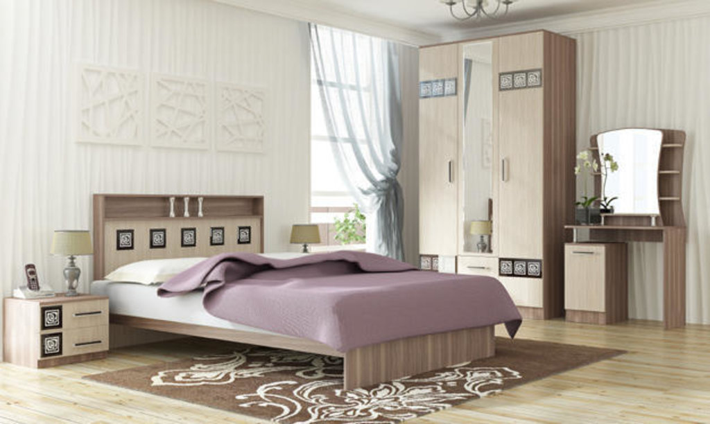 Мебель для спальни Коста-Рика. Модульная серия.: Кровать 2-х спальная 1600 Коста-Рика в Уютный дом
