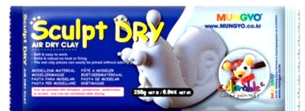 Керамическая масса: Глина для моделирования 250гр белая Sculpt Dry MUNGYO в Шедевр, художественный салон