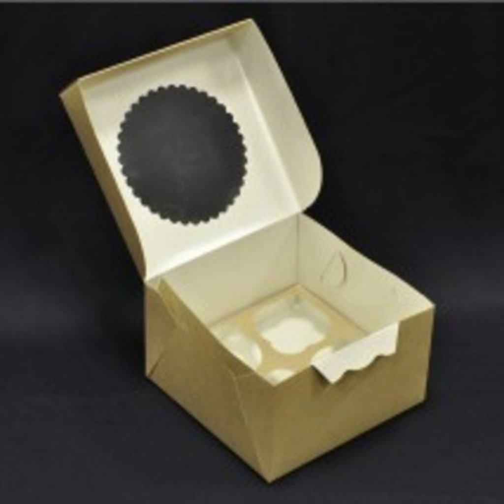Упаковка: Коробка на 4 капкейка в ТортExpress