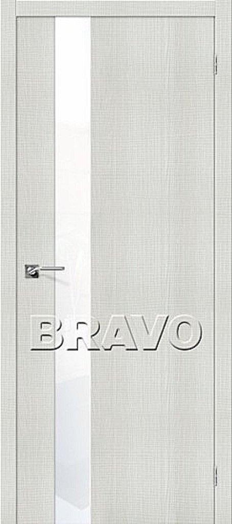 Двери экошпон BRAVO: Порта-51 WW Bianco Crosscut в STEKLOMASTER