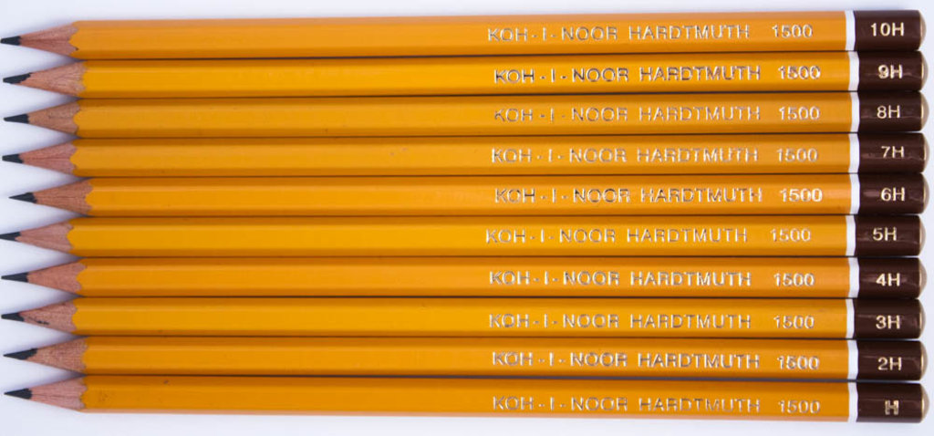 Чернографитные карандаши: Карандаш чернографитный KOH-I-NOOR 1500 4H 1шт в Шедевр, художественный салон