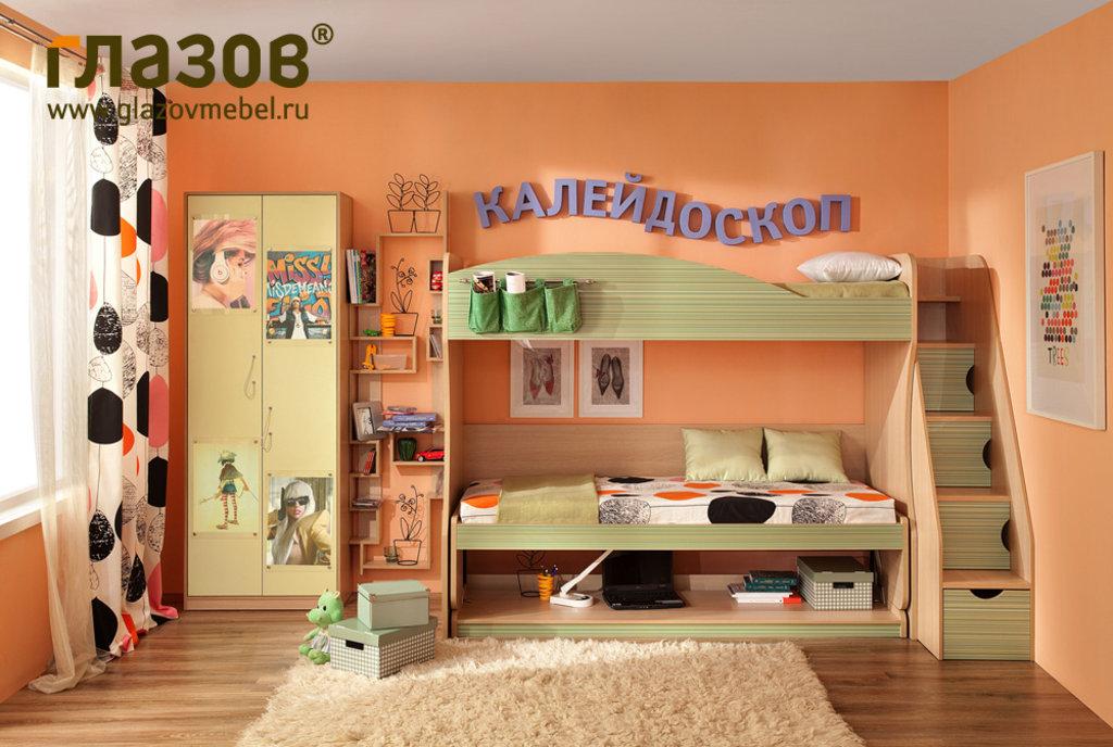 Детские и подростковые кровати: Кровать-Трансформер Калейдоскоп 2 (800, усилен. настил) в Стильная мебель