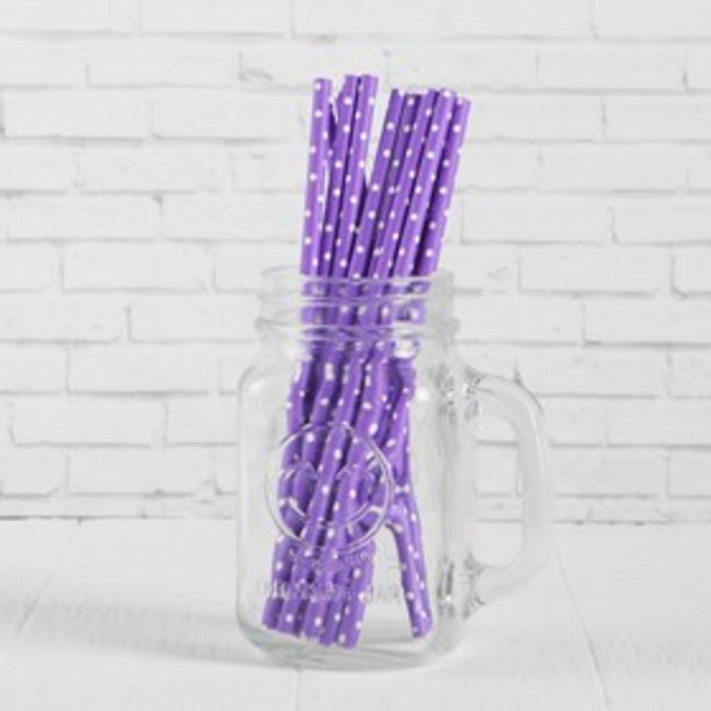 Упаковка: Трубочки для коктейля Горох фиолетовый (набор 12шт) в ТортExpress