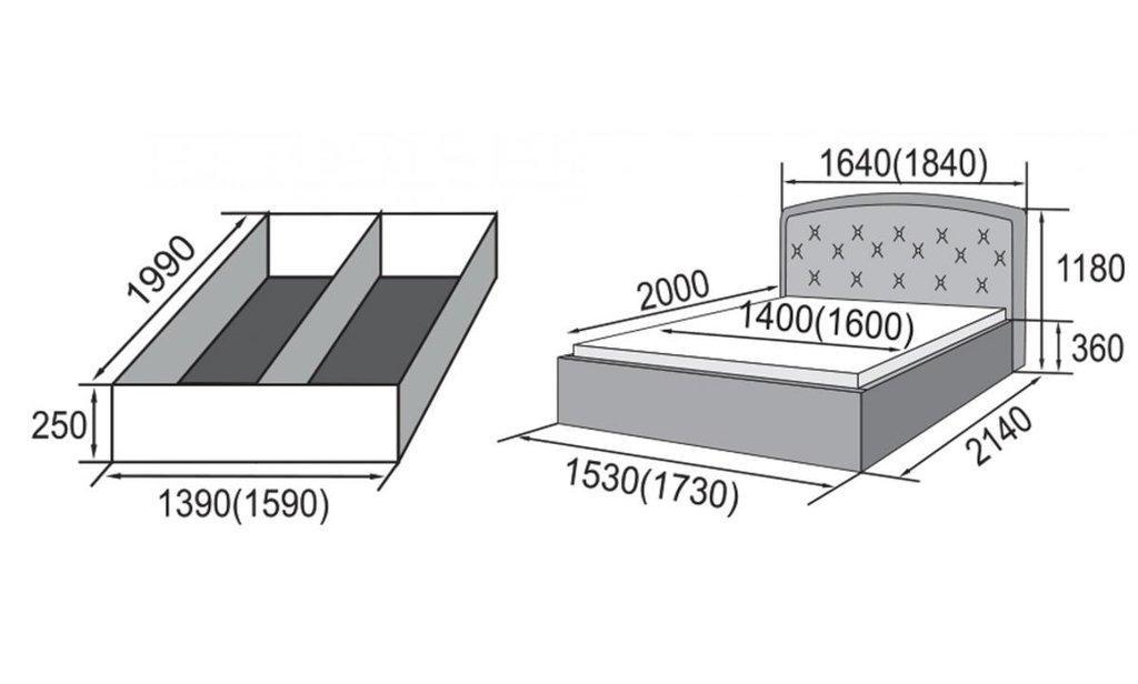 Кровати: Кровать двойная из экокожи Валенсия в Уютный дом