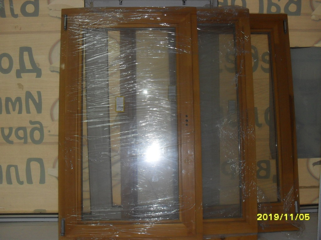 Окна: окна двойной стеклопакет массив хвои 70х120 в Погонаж