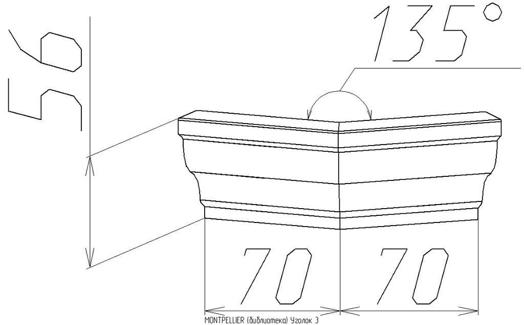 Мебельные направляющие и комплектующие: Уголок 3 Montpellier в Стильная мебель