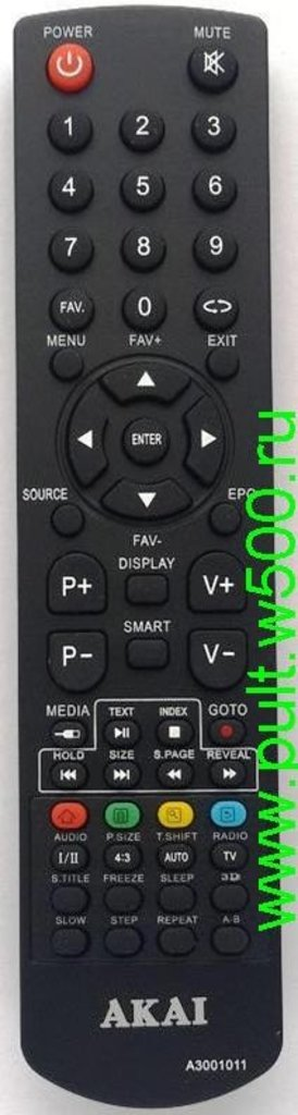 AKAI: Пульт AKAI A3001011(LCD) оригинал в A-Центр Пульты ДУ