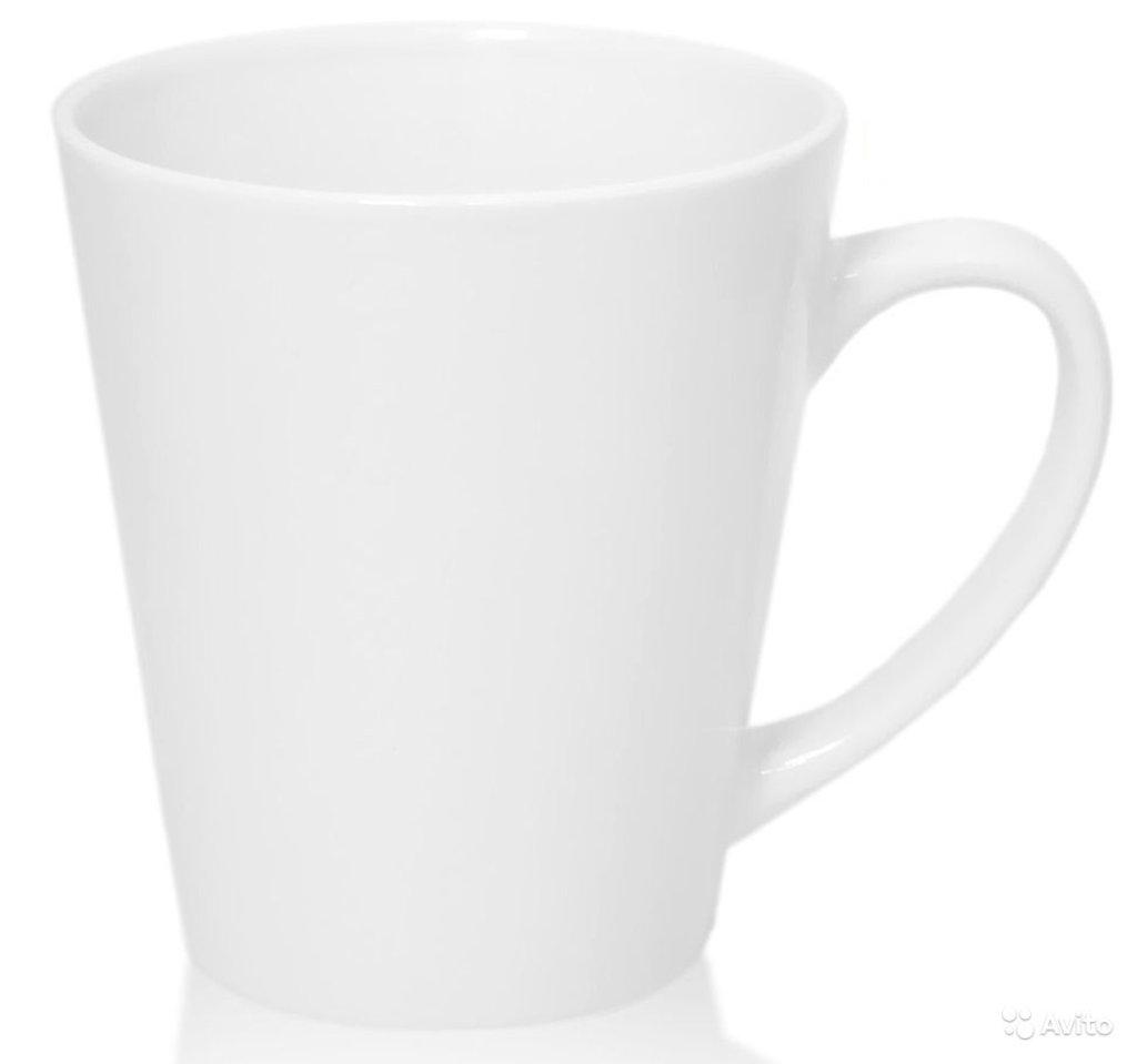 Белые кружки-заготовки: Кружка для латте белая низкая в NeoPlastic