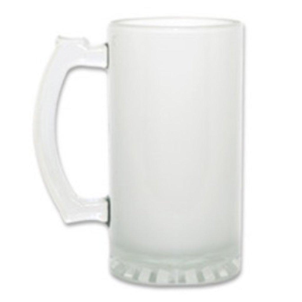 Пивные кружки-заготовки: Пивная кружка матовая стеклянная в NeoPlastic