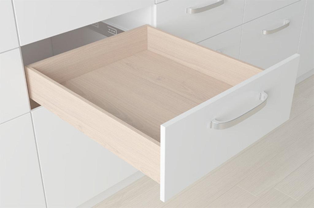 """Мебельная фурнитура """"НОВИНКИ"""": Комплект скрытых направляющих Push, L=300мм частичного выдвижения + замки в МебельСтрой"""