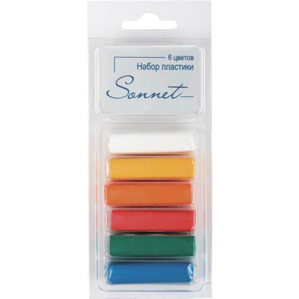 """Sonnet пластика цветная: Набор пластики """"Sonnet"""" Основные цвета 6 цветов , 120гр в Шедевр, художественный салон"""