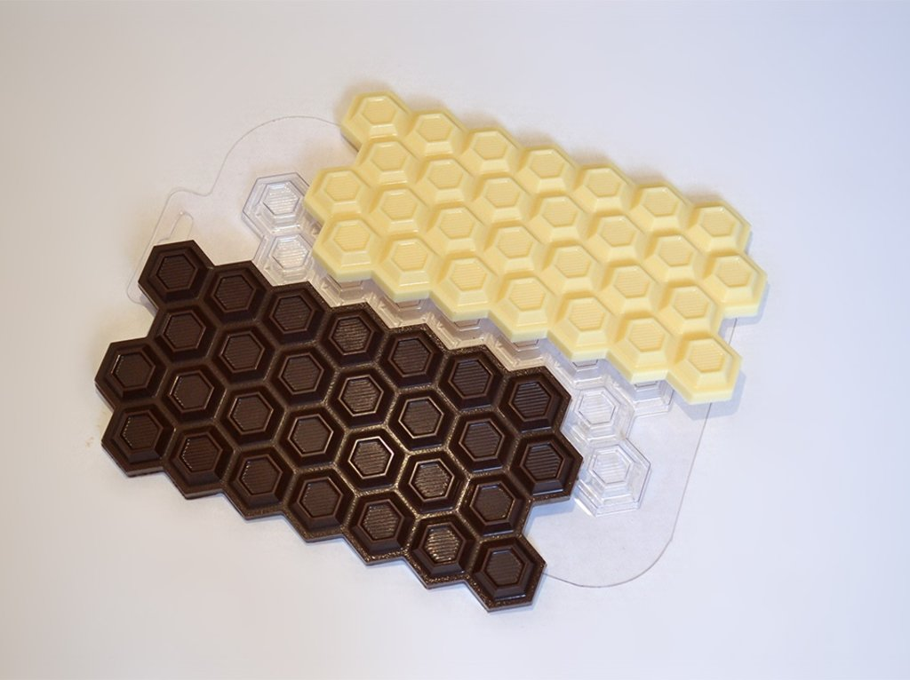 Пластиковые формы для шоколада: Форма для шоколада Плитка Сотовая в ТортExpress