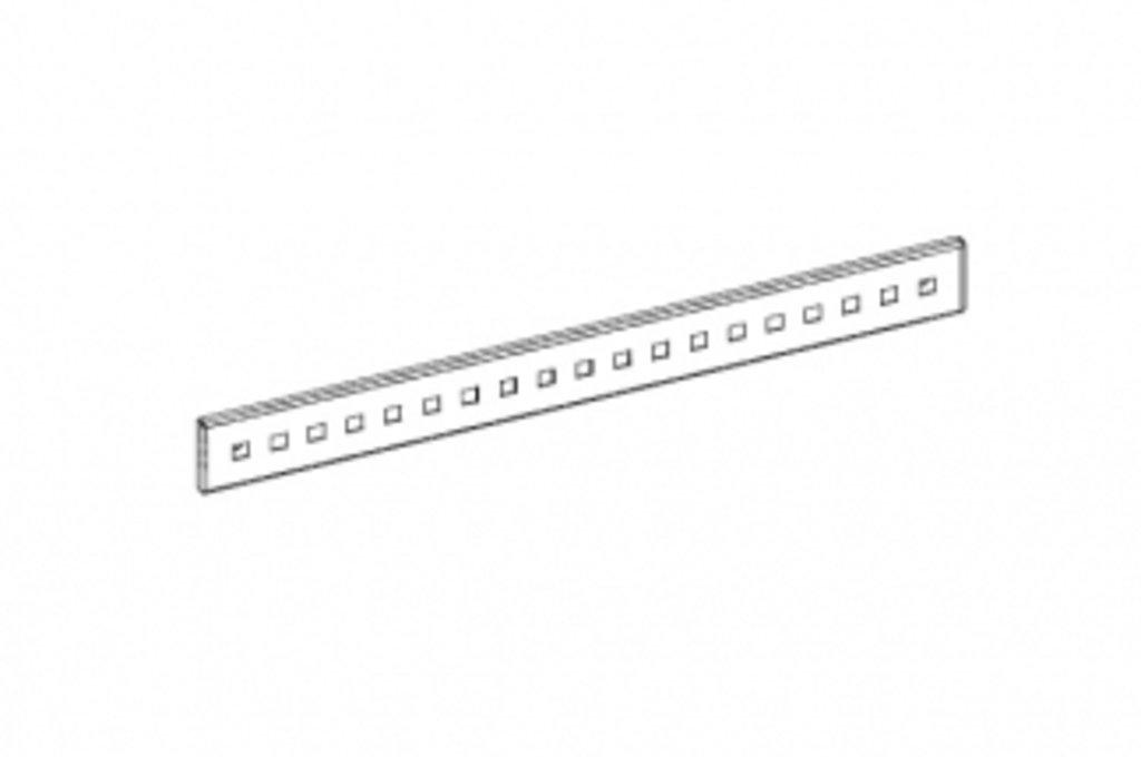 """Мебельная фурнитура """"НОВИНКИ"""": Рейлинг перфорированный l.900мм, отделка белый бархат (матовый) в МебельСтрой"""