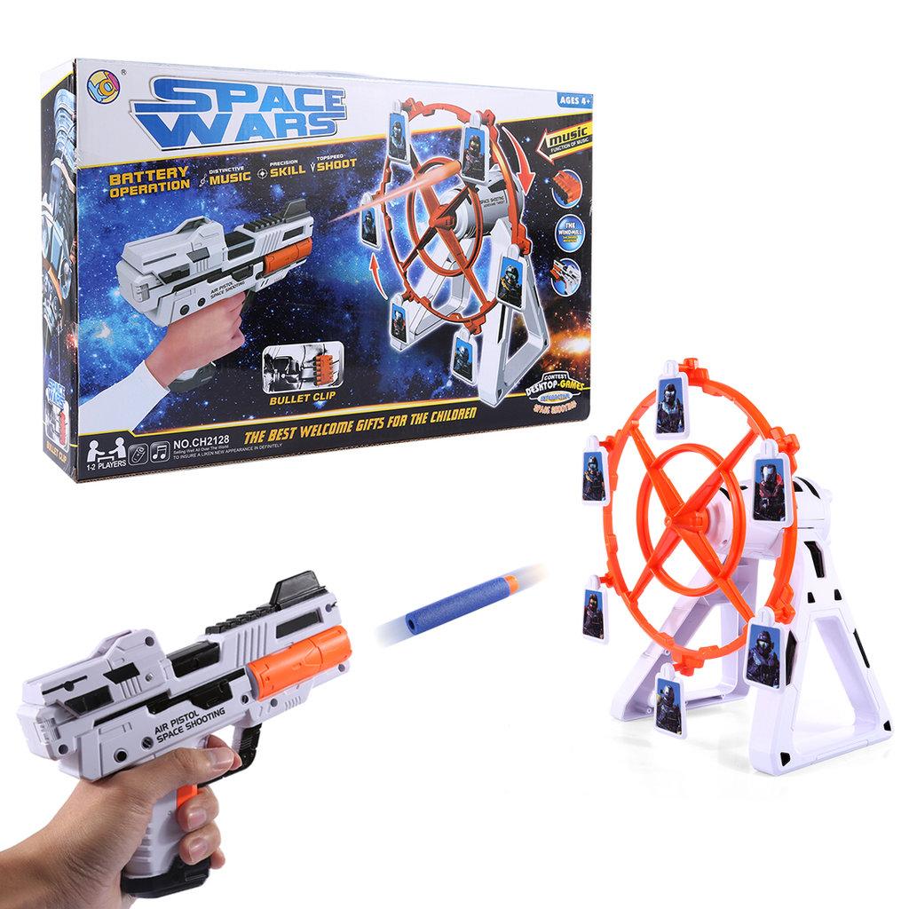 """Игрушки для мальчиков: Набор """"Меткий стрелок"""" на батарейках.Космический тир: Вращение. Стрельба по вращающимся мишеням. в Игрушки Сити"""