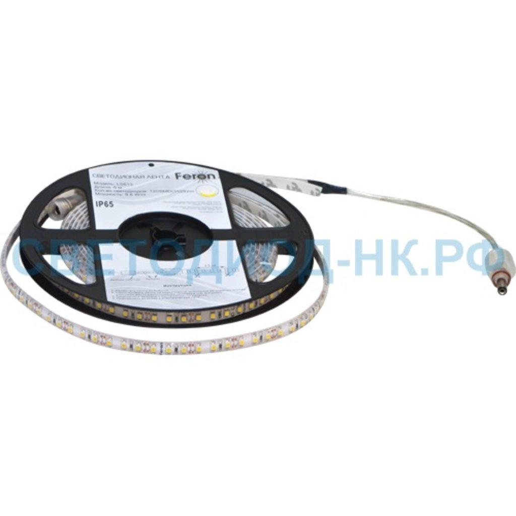 Герметичная лента: Лента LED 120SMD 2835 9,6W/m IP65 12V 6500K 5м Feron в СВЕТОВОД