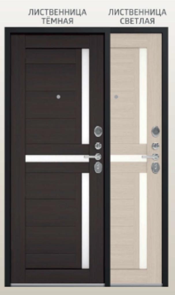 Двери Центурион: Центурион LUX-3 Чёрный муар/Лиственница тёмная щит X16 в Модуль Плюс