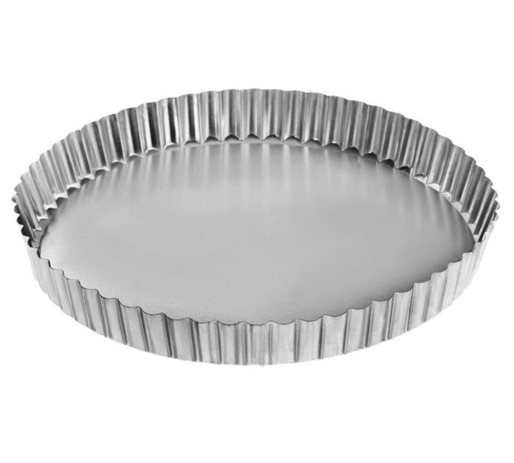"""Металлические и разъёмные формы для выпечки: Форма для выпечки 20 см """"Рифленая кромка"""", съемное дно в ТортExpress"""